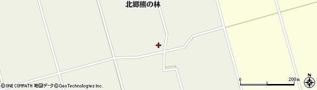 宮城県栗原市鶯沢北郷熊の林周辺の地図
