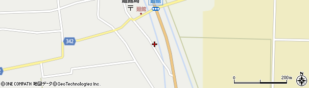 山形県東田川郡庄内町廻館館舎25周辺の地図