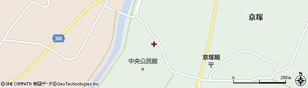 山形県最上郡鮭川村京塚1322周辺の地図