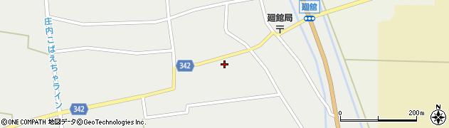山形県東田川郡庄内町廻館館舎157周辺の地図