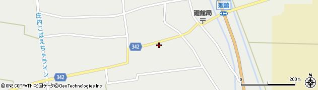 山形県東田川郡庄内町廻館館舎156周辺の地図