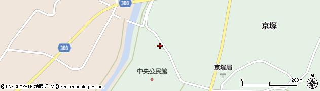 山形県最上郡鮭川村京塚1318周辺の地図