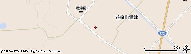 岩手県一関市花泉町涌津中町周辺の地図