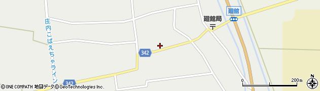 山形県東田川郡庄内町廻館館舎164周辺の地図
