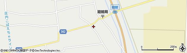 山形県東田川郡庄内町廻館館舎59周辺の地図