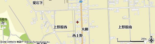 宮城県栗原市栗駒中野西上野周辺の地図