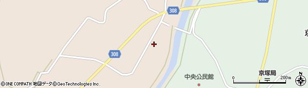 山形県最上郡鮭川村庭月周辺の地図