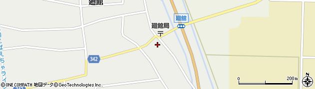 山形県東田川郡庄内町廻館館舎63周辺の地図