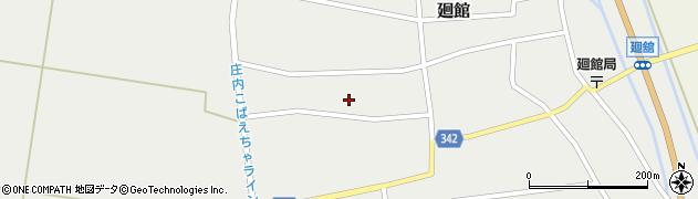 山形県東田川郡庄内町廻館館舎180周辺の地図