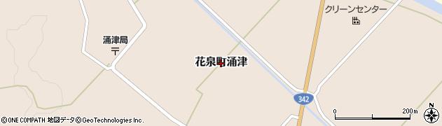 岩手県一関市花泉町涌津周辺の地図