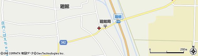 山形県東田川郡庄内町廻館周辺の地図