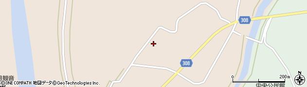 山形県最上郡鮭川村庭月1046周辺の地図