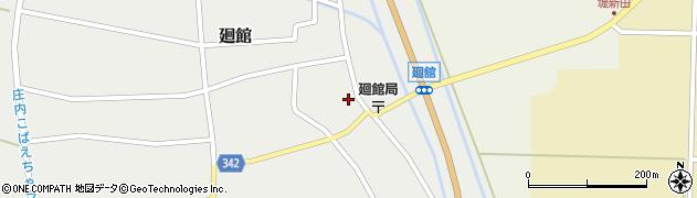 山形県東田川郡庄内町廻館館舎53周辺の地図