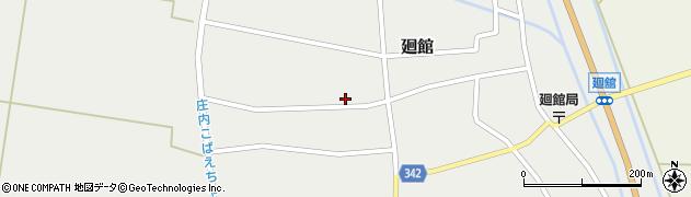 山形県東田川郡庄内町廻館館舎198周辺の地図
