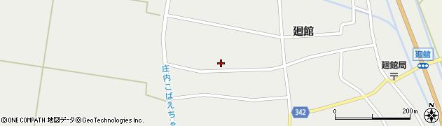 山形県東田川郡庄内町廻館館舎185周辺の地図