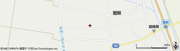 山形県東田川郡庄内町廻館館舎195周辺の地図
