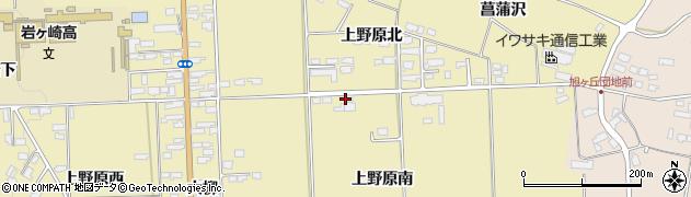 宮城県栗原市栗駒中野上野原南周辺の地図