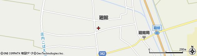 山形県東田川郡庄内町廻館館舎205周辺の地図