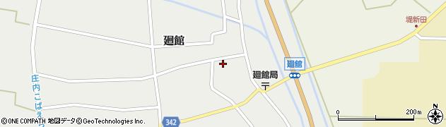 山形県東田川郡庄内町廻館館舎48周辺の地図