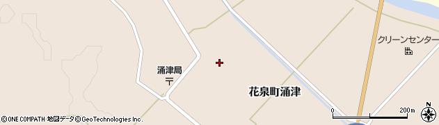 岩手県一関市花泉町涌津町浦周辺の地図