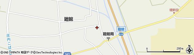 山形県東田川郡庄内町廻館館舎51周辺の地図
