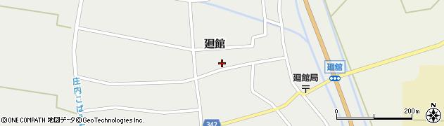 山形県東田川郡庄内町廻館館舎207周辺の地図