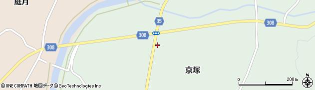 山形県最上郡鮭川村京塚1246周辺の地図