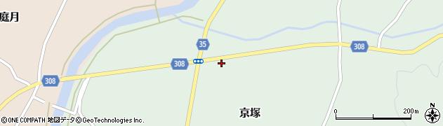 山形県最上郡鮭川村京塚1250周辺の地図