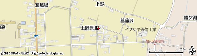 宮城県栗原市栗駒中野上野原北周辺の地図