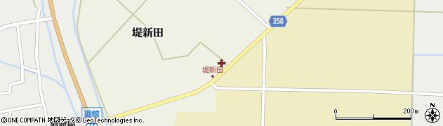 山形県東田川郡庄内町堤新田新畑周辺の地図