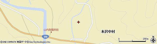 宮城県栗原市花山本沢坂下周辺の地図