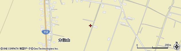 山形県酒田市浜中分散山578周辺の地図