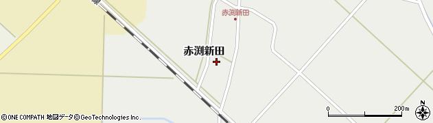 山形県東田川郡庄内町赤渕新田藤原台周辺の地図