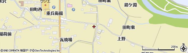 宮城県栗原市栗駒中野上野周辺の地図