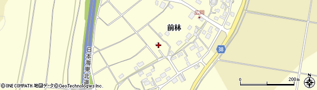 山形県酒田市広岡新田前林周辺の地図