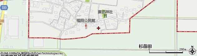 山形県酒田市広野福岡28周辺の地図