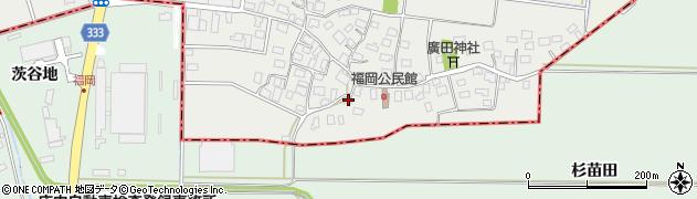 山形県酒田市広野福岡48周辺の地図