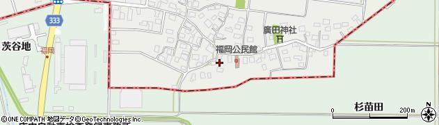 山形県酒田市広野福岡45周辺の地図