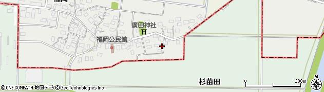 山形県酒田市広野福岡18周辺の地図