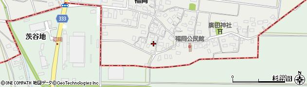 山形県酒田市広野福岡66周辺の地図