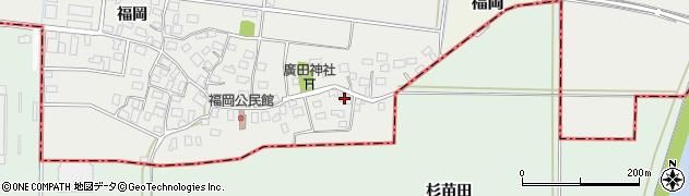 山形県酒田市広野福岡15周辺の地図