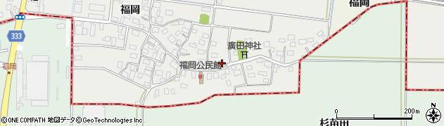 山形県酒田市広野福岡223周辺の地図