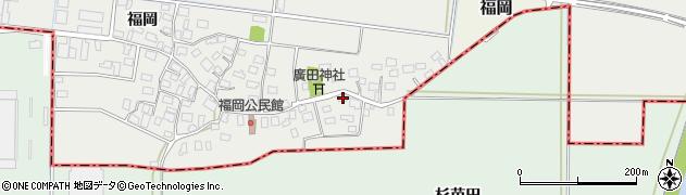 山形県酒田市広野福岡19周辺の地図