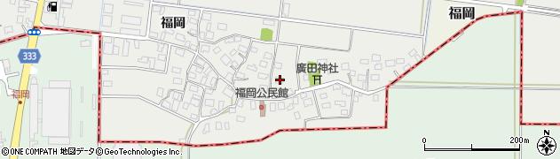 山形県酒田市広野福岡214周辺の地図