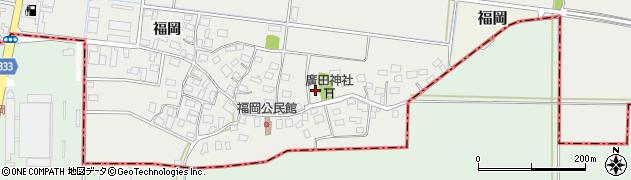山形県酒田市広野福岡225周辺の地図