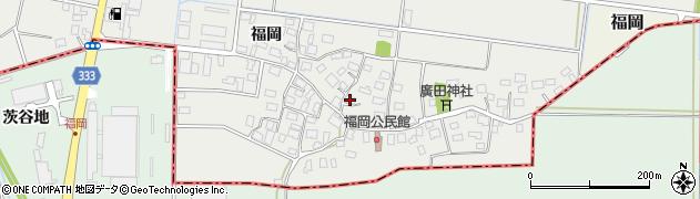 山形県酒田市広野福岡198周辺の地図