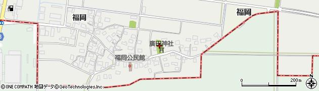 山形県酒田市広野福岡227周辺の地図