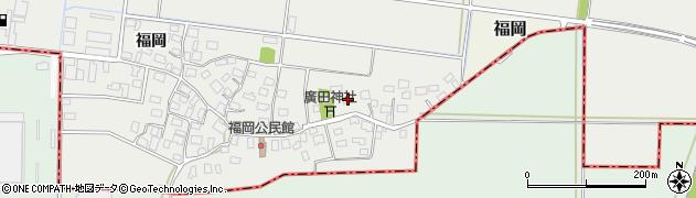 山形県酒田市広野福岡244周辺の地図