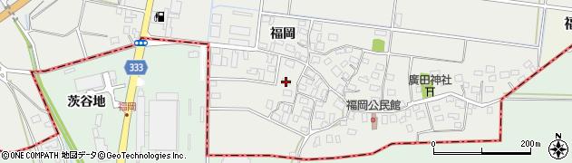山形県酒田市広野福岡86周辺の地図