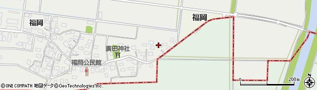 山形県酒田市広野福岡259周辺の地図